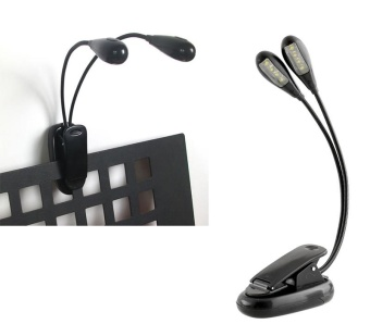 New 2 Arm 8 LED Clip-On Light For Piano Music Stand Desk Laptop Black - intl Price Philippines