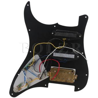 Pearl Plate Pickguard for Guitar SSH Black - 2