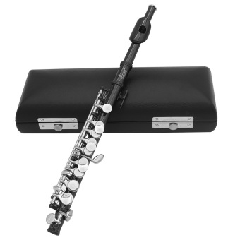 Piccolo Ottavino Half-size Flute Plated C Key Cupronickel with Cork Grease Cleaning Cloth Screwdriver Padded Box Black Outdoorfree - intl