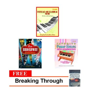Popular & Classical Music, Best Broadway Collection, Piano Solos Bundle of 3 with Free Breaking Through