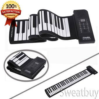 Portable 61-Keys Roll up Soft Silicone Flexible Electronic Digital Music Keyboard Piano New - intl