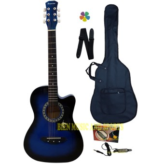 Premiere Acoustic Guitar With Detachable Guitar Pick Up(Blue) Price Philippines