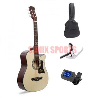 Premiere Acoustic Guitar with Guitar Tuner Package (Natural) Price Philippines