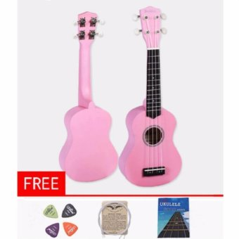Premiere high-grade 21 inches four string wooden ukulele(pink) Price Philippines