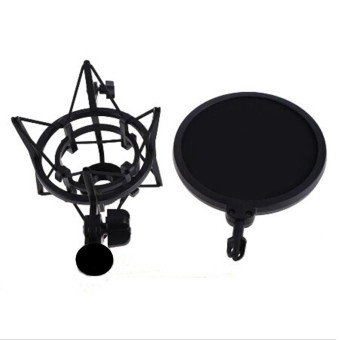 Professional Microphone Mic Shock Mount Studio Stand Pop + Shield Filter Screen