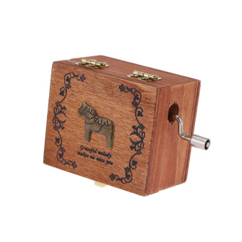 Retro Wooden Musical Box Hand Crank Music Box Exquisite WorkmanshipPattern 3 (Intl)