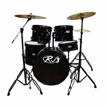RJ Drum Set with Ride Cymbals (Black) Price Philippines