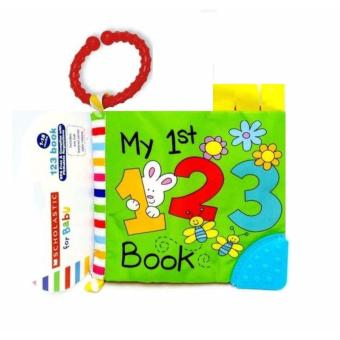 Scholastic For Baby Cloth Book with Teether - My 1st 123 Book