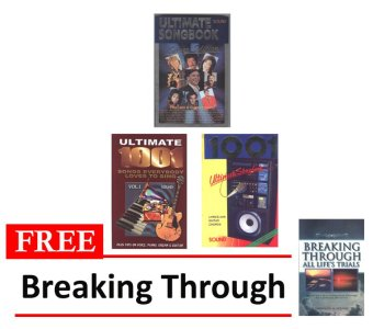 Silver Edition and 1001 Ultimate Songbook Volumes 1 and 2 Bundle of3 with FREE Breaking Through