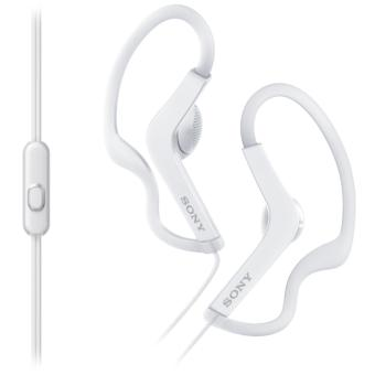 Sony MDR-AS210 Sports In-Ear Splashproof Headphones with In LineMic (White)
