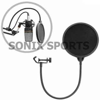 Studio Microphone Mic Round Shape Wind Pop Filter Mask Shield