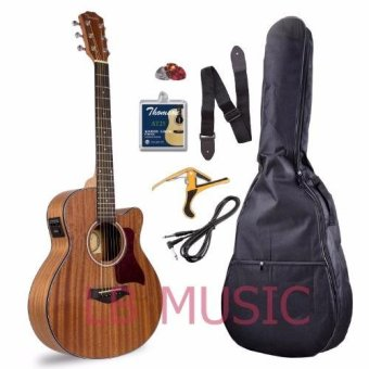 Thomson GS mini 3/4 w/ pickup and built-in tuner mahogany acousticguitar package (Natural)