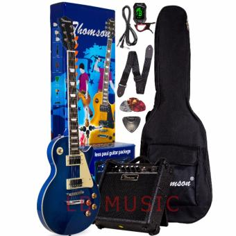 Thomson Les Paul w/ heavy duty amp, tuner and Complete accessoriesPackage Electric Guitar (Blue)