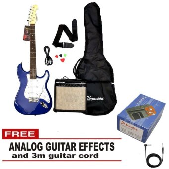 Thomson ST-1 Electric Guitar Package With Guitar Overdriveeffects(Blue)