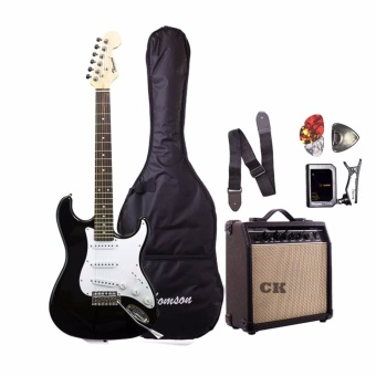 Thomson ST-1 Electric Guitar Package with Tuner (Black)
