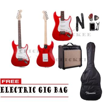 Thomson ST-1 Electric Guitar Package with Tuner (Red)