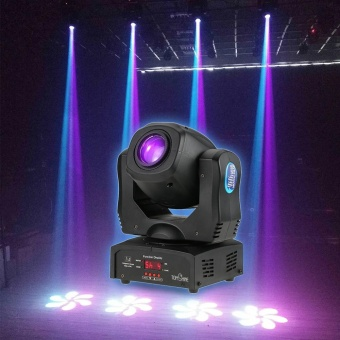 Tomshine Total Power 80W DMX512 Sound Control Auto Rotating 9 / 11 Channels Rainbow 8 Colors Changing Head Moving Light LED Stage Gobo Pattern Lamp for Disco KTV Club Party - intl