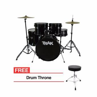 Trak JBP1601A 5pc Drumset (Black) - 2
