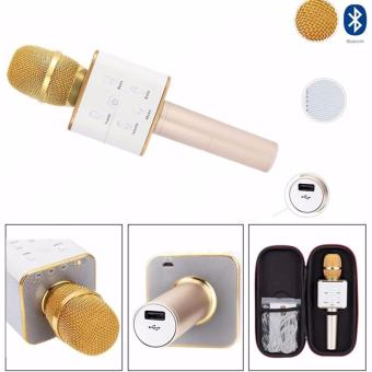 TUXUN Q7 Wireless KTV Karaoke Microphone Bluetooth Speaker(Gold)