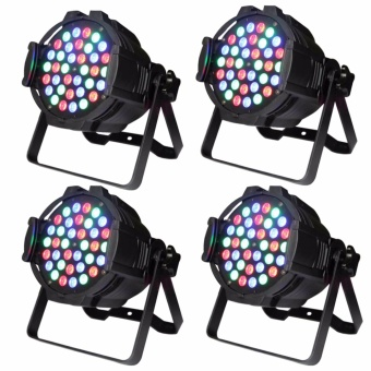 U'King 4pcs Par Light with 36 LEDs RGB Stage Effect Light DMX Sound Control for DJ Show Disco Home Party - intl
