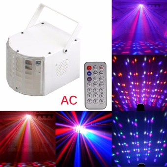 U'King DJ Lights LED Stage Lighting Dance Club Party Disco Light 6W AC Stage Effect Light Auto Sound Mode with Music Remote Control White - intl