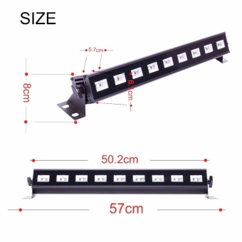 U`King 27W UV Black Light Stage Light 9LED Wall Wash light withRemote for Parties Halloween Club Party DJ Disco Metal HousingStage Effect Lighting - intl - 3