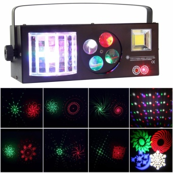 U`King 60W Stage Light Laser Strobe Gobo Magic Ball 4in1 RGBW Party Lignting DJ Disco Bar Effect Projector Light - intl