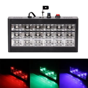 U'King Lighting Stage Light Stroboscope Projector 25W 18RGB LEDSound Activate Stage Lighting Equipment Room Strobe For Disco DJParty Music Show (Black) - intl Price Philippines