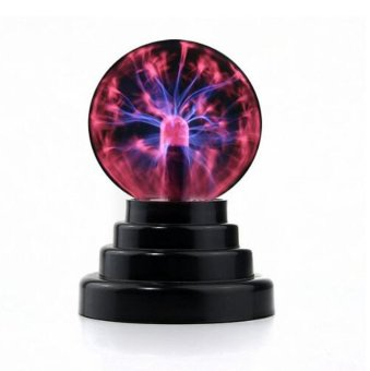 USB or Battery Operated Magic Lightning Plasma Ball DecorativeLight Desktop Sphere Lamp Disco Party Gift - intl
