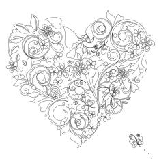 Vive Le Color Hearts Adult Coloring Book In DeStress 72 TearOut Pages