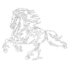 Vive Le Color Horses Adult Coloring Book In DeStress 72 TearOut Pages