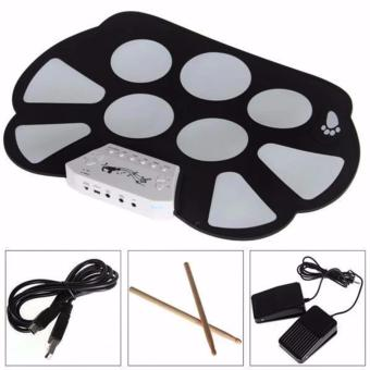 W758 Digital Portable 9 Pad Musical Instrument Electronic Roll-up Drum Kit - 3