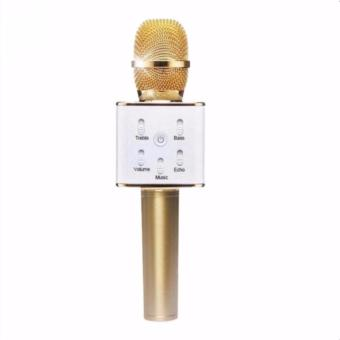 Wireless KTV Karaoke Microphone Bluetooth Speaker Handheld Mic(Gold)Q7