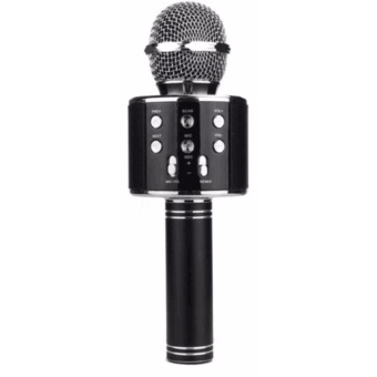WS-858 Microphone Wireless KTV Karaoke Bluetooth Handheld Mic HIFISpeaker (Black) Price Philippines