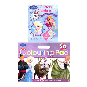 WS Disney Frozen Set of 2 (Sticker Dress-up: Glittery & Coloring Pad)