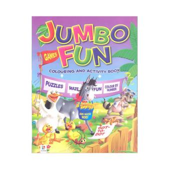 WS Jumbo Fun Coloring & Activity Book-Farm (Purple)
