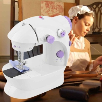 1 Pcs Portable Electric Mini Stitch Sewing Machine Dual SpeedDouble Thread - intl