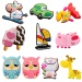 10 Pcs Silicone Cartoon Cute Animals Toys Fridge RefrigeratorMagnet Set Random Style - intl