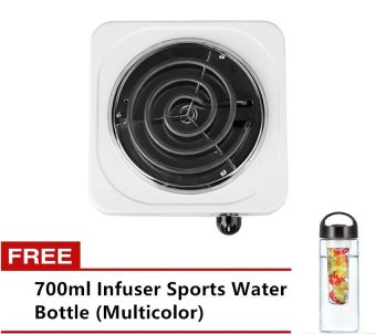 101 Single-Hot Plate Electric Stove (White) with Free 700ml InfuserSports Water Bottle (Multicolor) Price Philippines