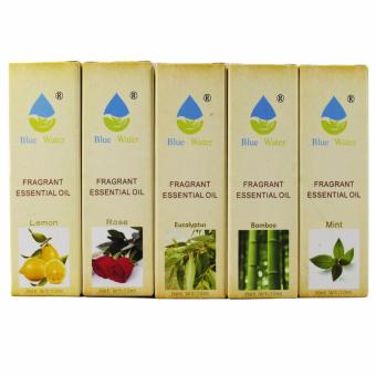 10ml Set of 5 Aromatherapy Essential Oils for Humidifier, Cool mistetc. (Lemon,Rose,Eucalyptus,Bamboo,Mint)