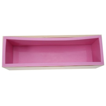 1200g Silicone Soap Loaf Mold Wooden Box DIY Making Tools - intl - 3