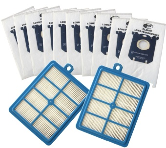 12pcs/set 2pcs hepa filter 10pcs Dust Bags Replacement forElectrolux Vacuum Cleaner filter electrolux hepa and S-BAG - intl