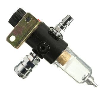 1/4'' Air Compressor Filter Moisture Water Separator Trap Tools Regulator Gauge - 5