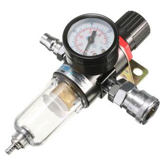 1/4'' Air Compressor Filter Moisture Water Separator Trap Tools Regulator Gauge - 3
