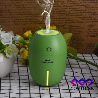 180ml USB Ultrasonic Cool Mist Humidifier With LED Lamp (Green) - intl