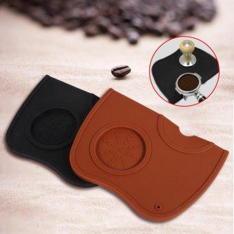 1pcs Anti-slip Espresso Coffee Tamper Tamping Holder Silicone MatPad (Coffee) - intl - 3