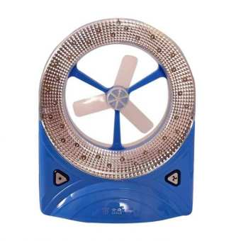 2-in-1 Rechargeable Fan with LED Light Set of 2 (Blue) - picture 2