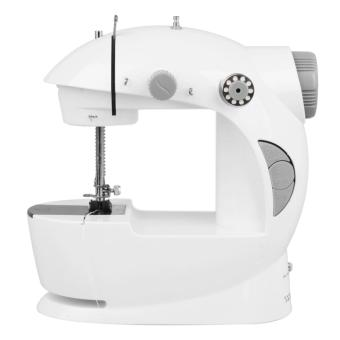 2-Speed Mini Electric Sewing Machine (White/Gray) with FreeAccessories