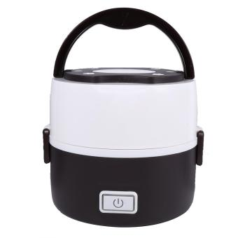220V 2 Layers Electric Heated Lunch Box Set Multifunctional FoodWarmer(Coffee) - intl - 3