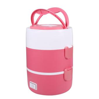220V 3 Layers Electric Heated Lunch Box (Pink) - intl - 4